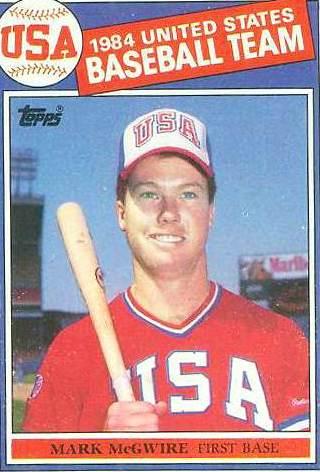 Mark McGwire Rookie Card 1985 #401