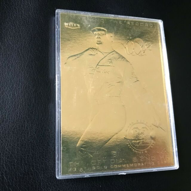 Mark McGwire 62 HR Gold Card